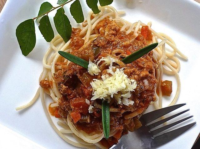 Cómo cocinar espaguetis con salsa de carne Receta