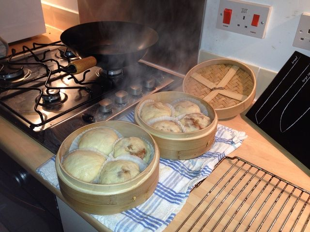 Cómo cocinar al vapor barbacoa de pollo Receta Bollos