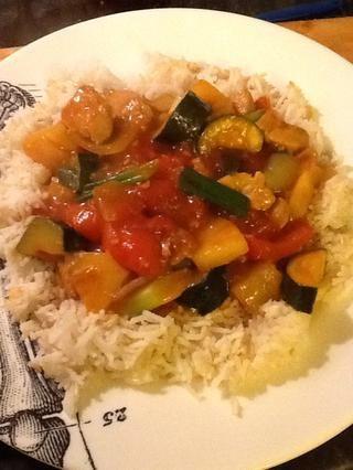 Servir sobre el arroz y disfrutar!
