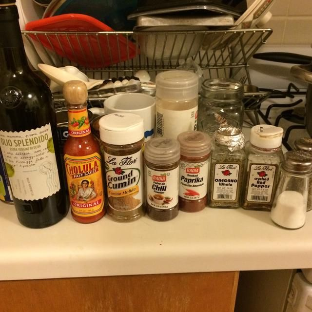 Algunos de los condimentos.