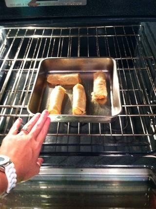 Me decidí a conseguir algunos rollitos de primavera. Usted puede hacer estallar algunos en el horno en este momento.