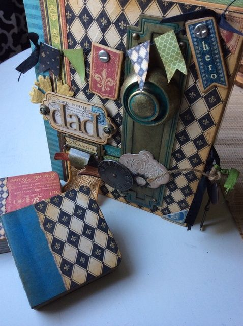 Cómo elaborar un Padre's Day Box & Mini Book Keepsake