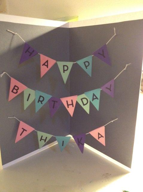 Cómo crear una tarjeta de cumpleaños de la bandera