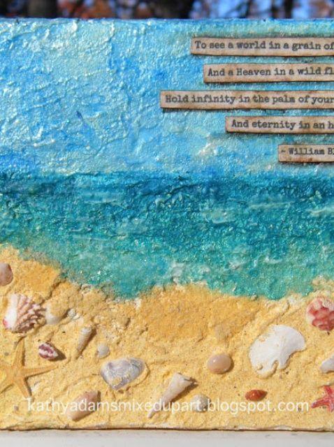 Cómo crear un lienzo Beach por Kathy Adams