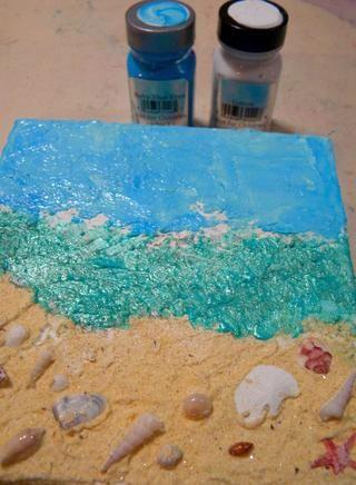 Aplique la mezcla usando una espátula a la parte superior del lienzo. Que toda la seca lienzo.