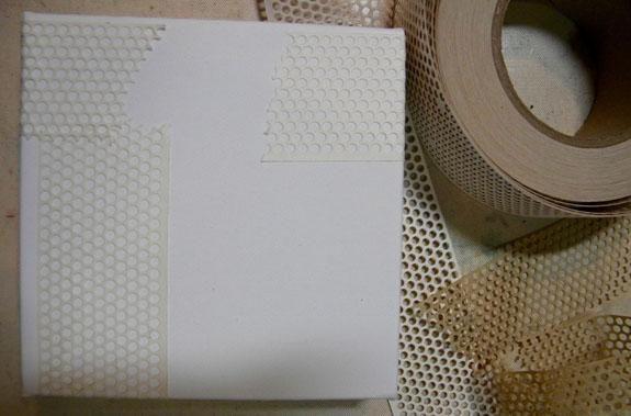 Añadir parche conjunta a la lona para la textura. Puedo pedir desde Lowes y lo han enviado a mi tienda local. Enlace: http://lowes.com/pd_13811-63902-ST100___?productId=4763889&pl=1&Ntt=dry+wall+tape
