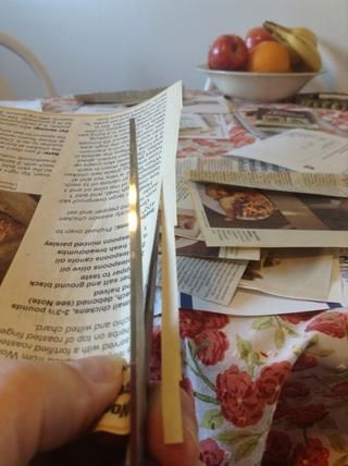 Luego recortar y recortar las recetas para que'll be easier to glue on your pages.