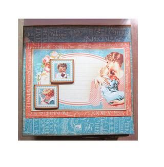 Don't forget to add some inside card decoration. Be sure to use some small chipboard pieces on the interior so the easel card will have something to rest on when opened and stay standing up.