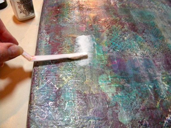 Añadí Algodón Terciopelo para iluminar el lienzo un poco para que mi cotización se destacaría más.