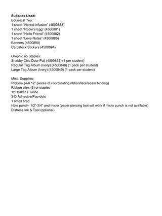 Lista de suministro completa