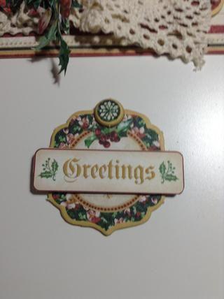 .you Debe adherirse a su mensaje de Navidad ... He elegido this.Glue en su tarjeta ..