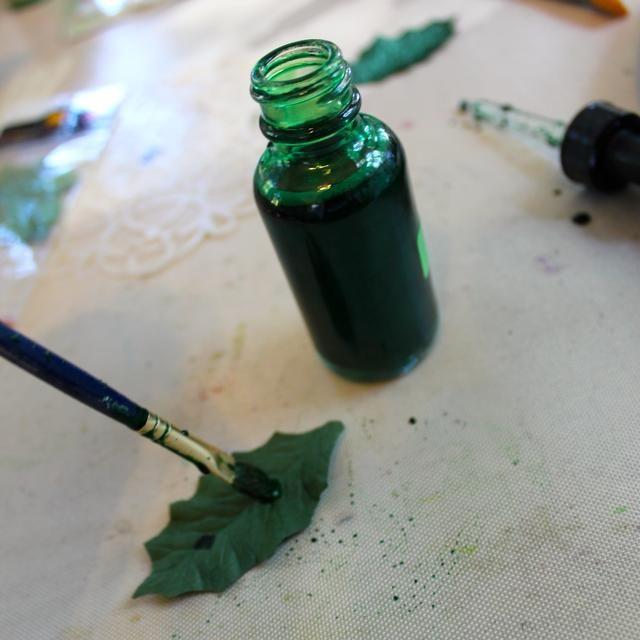 Agitar la botella muy bien. Retire el gotero y luego usar un cepillo para añadir el Minx a las hojas.