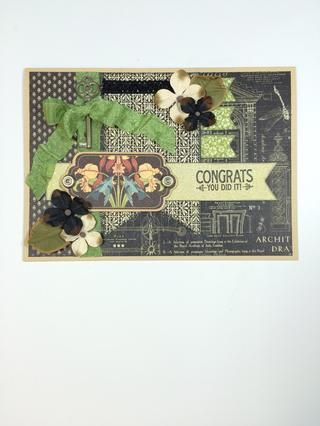 Añadir flores u otros adornos si lo deseas. Solía Petaloo's Darjeeling Hydrangeas in black & cream.