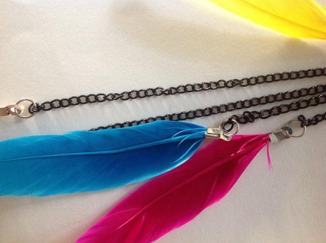 Una mejor visión de cómo colocar las plumas a las cadenas que usan anillos del salto.