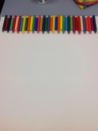 Deje los crayones que se seque durante 10-15 minutos