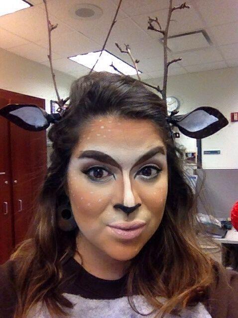 Cómo crear un look de maquillaje Doe / ciervo Bambi y vestuario