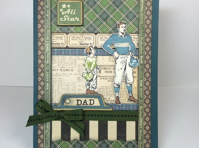 Cómo crear un Padre's Day Card With Pieced Stamping