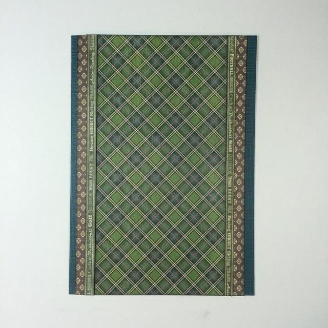Corte dos tiras finas verdes del número 1 de papel del ventilador (7