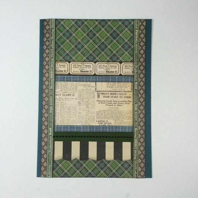 Adherirse elementos al frente de la tarjeta como se muestra.