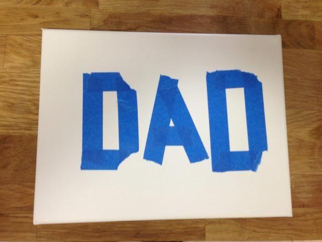 Escriba su mensaje con cinta de pintores