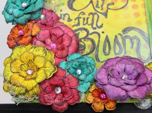 Cómo crear un marco floral