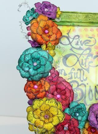 Después de colocar todas las flores he añadido una cotización rápida a mi cuadro.