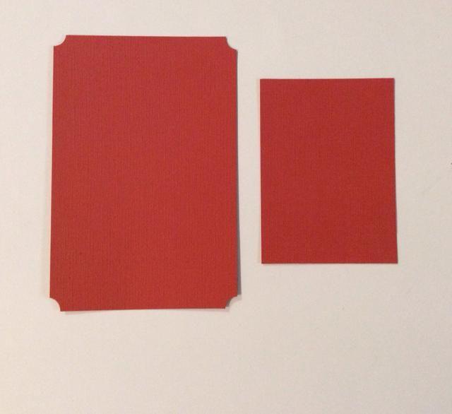 Corte dos tarjetas de naranja tapetes de valores quemados. 1 a 4 x 6 pulgadas con esquinas perforadas. 1 a 4 1/8 x 3 pulgadas.