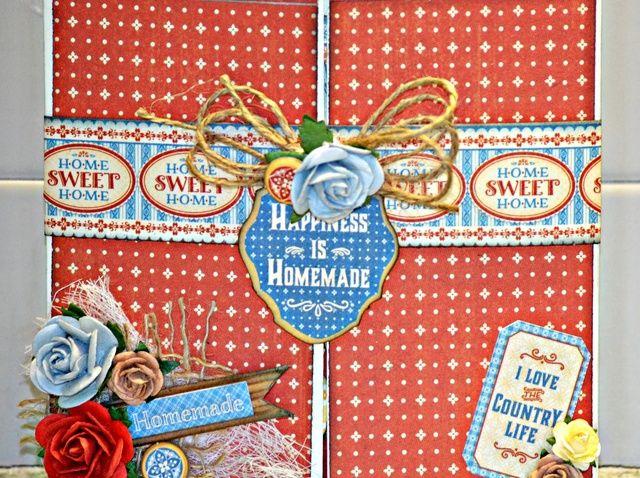 Cómo crear una tarjeta Fold Home Sweet Home Puerta Gráfico 45