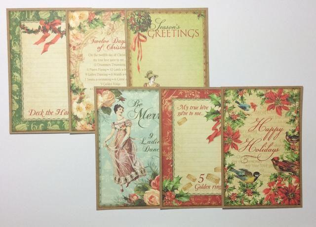 Monte de seis cortar una parte de la colección de papel a de papel de tarjetas.