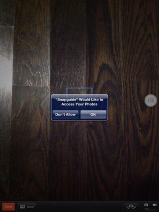 Si va a agregar fotos o vídeos, asegúrese de que usted permite Snapguide para acceder a ellos. También puede agregar permisos por secciones de Privacidad y Fotos en la configuración de su dispositivo.