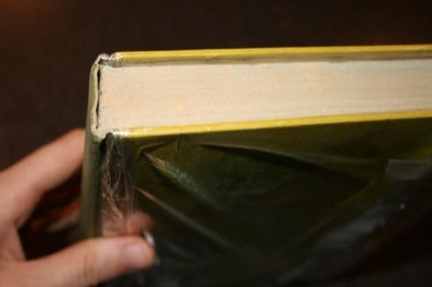 Mantenga su libro como éste. Luego, tome su cola y la brocha y cubra los bordes donde se pueden ver las páginas. Asegúrese de que no es suficiente porque tiene que mantener todas las páginas.