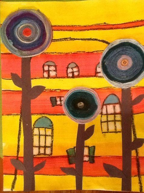 Cómo crear una Obra de Arte Hundertwasser con la pintura y del hilado