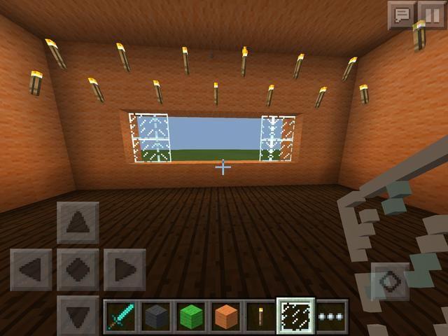 Ir a la cocina y añadir antorchas para iluminar el lugar. Añadir agujeros y ventanas de la unidad a través. Ahora los clientes pueden ordenar y recoger su pedido. (Visión Correcta)