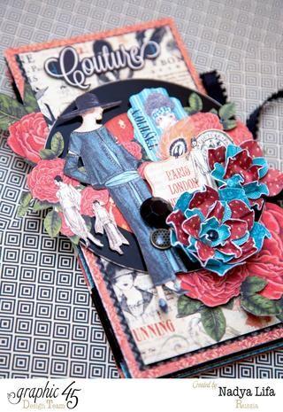 También para decoración utilicé un disco viejo CD))) Y muchas perfectos Fussy corte Detalles de Couture Collection Gráfico 45 hojas!
