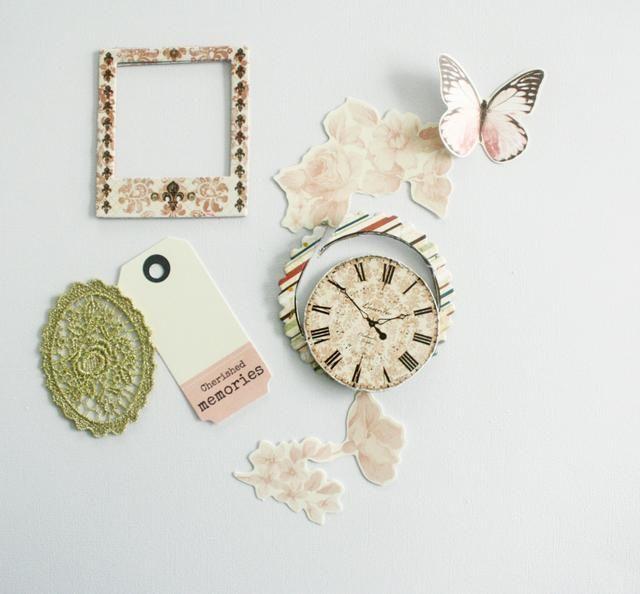 Estos son los bits necesarios para embellecer la tarjeta. Todos los artículos son, ya sea del kit principal o Embellecimiento Add-on.