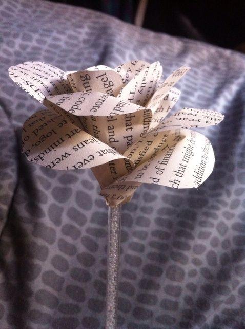 Cómo crear un libro de la flor de papel - un día de San Valentín's Day Idea