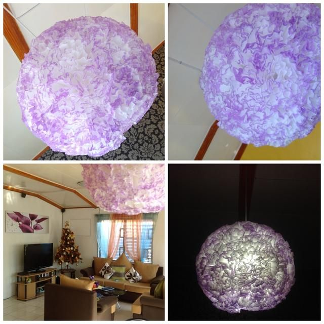 Y aquí's the finished pendant lamp, hanging over our dining table. Hope you found this helpful! Merry Christmas!