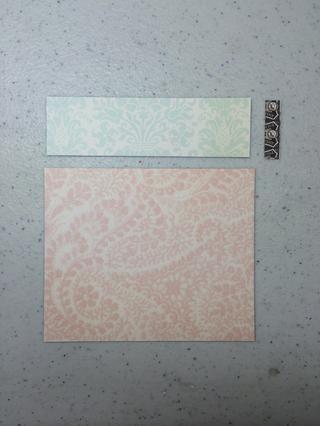 Franja de color verde claro Corte de patrón de papel 1
