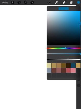 Aquí están mis muestras de color. Al mover el cursor cambiará entre la luz y la oscuridad.
