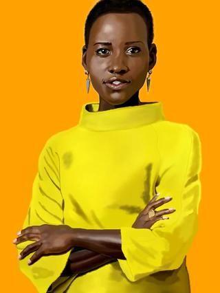 Luego me ablando cuidadosamente los bordes de la figura de un aspecto más realista. Herramientas del aerógrafo para ella y varios cepillos para el jersey. Creo una capa de fondo de color naranja para ver lo que'm doing.
