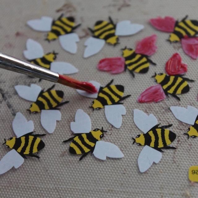 Pinté las alas de todos los Bee's with Sorbet in Mi Bella