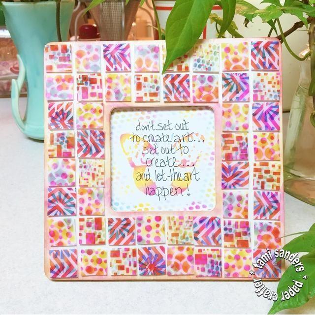 marco terminado! *** Por favor visite el BLOG TCW @ http://thecraftersworkshop.com/blog para más grandes proyectos! encontrarme en tamisanders.com *** tami lijadoras * artesano de papel