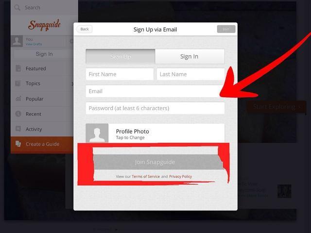 Complete la información, elegir una contraseña segura que pueda recordar con facilidad, y luego haga clic en