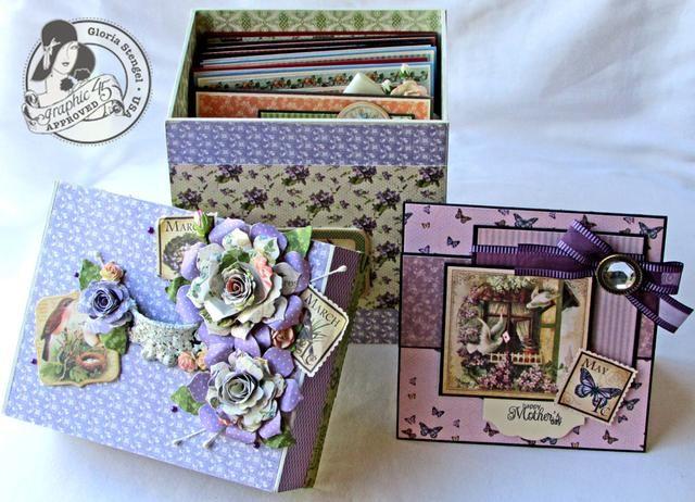 Para obtener más información sobre este proyecto, o para hacer las tarjetas, visite mi blog: http://gloriascraps.blogspot.com/2013/04/graphic-45-place-in-time-card-series.html