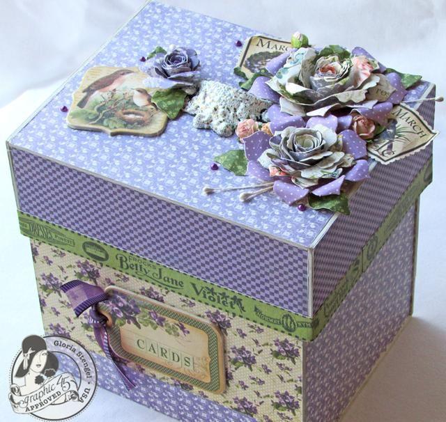 Utilice elementos de la gráfica 45 lugar en el tiempo y el Secret Garden Colecciones para decorar su caja si lo deseas.