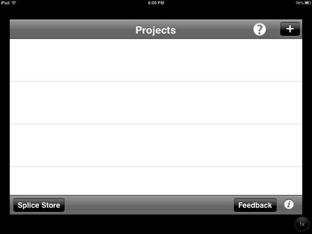 Al abrir la aplicación, que debería tener este aspecto. Usted va a comenzar seleccionando el