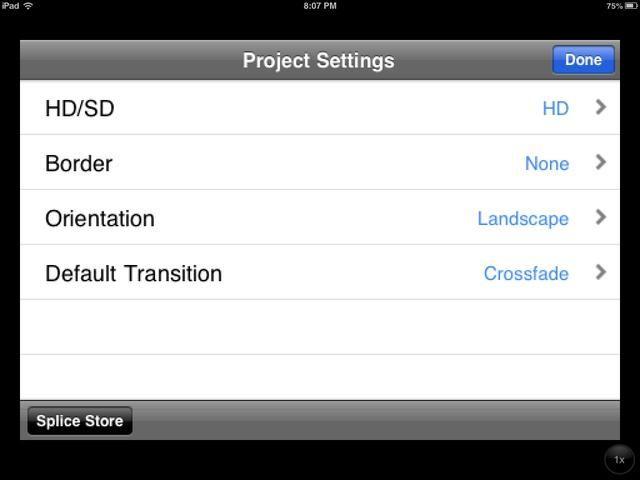 Una vez que introduzca un nombre de archivo, verá esta pantalla. Elija la configuración que desee. Usted puede regresar a esta pantalla en cualquier momento utilizando el
