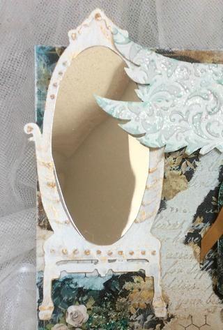 Una vez que usted le da una capa de pintura blanca toma Inka Oro y resaltar los puntos altos proporcionados por la pintura 3D.