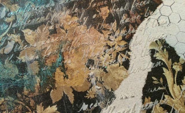 La isla del tesoro turquesa añadir un impresionante resplandor pátina a la lona y el Gossomer Oro parece viejo y vintage. Seque entre cada pulverización y dar varias capas para obtener el color deseado.