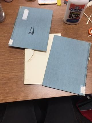 Dejar's add the front and back covers. Rip out any left over pages!